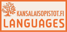 Kuvassa kansalaisopistojen kieli logo